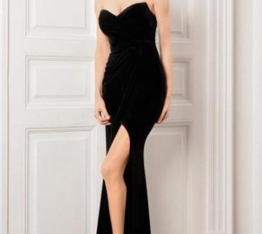 Rochii lungi de catifea la moda