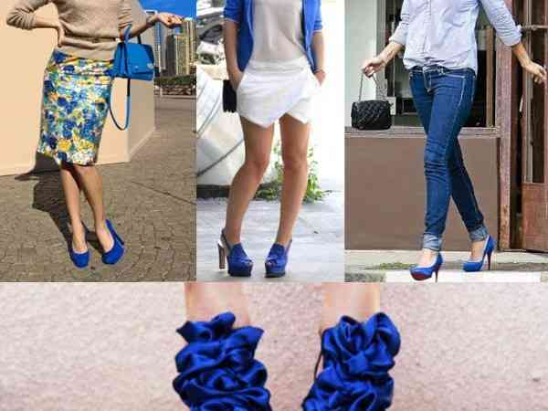 Cum asortăm pantofii albaștri