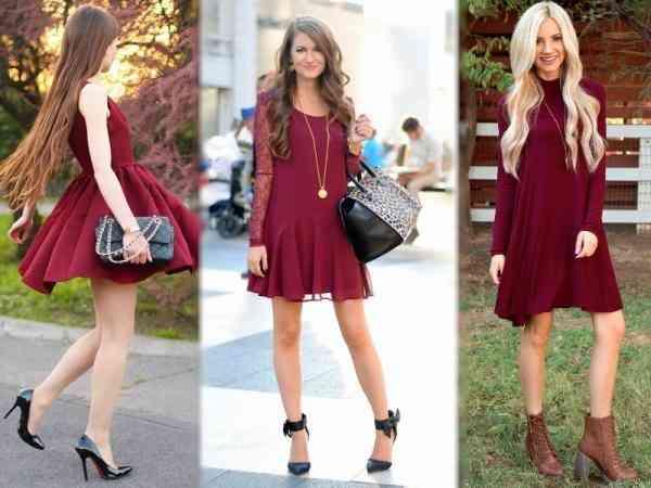 Cum se asortează o rochie grena