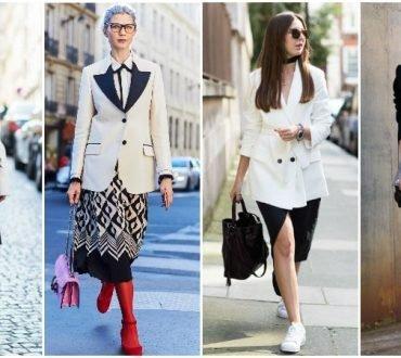 Idei de imbracaminte alb-negru perfecte pentru toamna